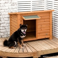 【数量限定】犬小屋(木製 平屋根) デラックス