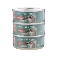【数量限定】Pet'sOne キャットミール かつお&まぐろ しらす入り ミニ(60g)3缶パック