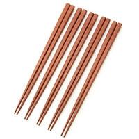 鉄木の箸(太角) 5膳入22.5cm
