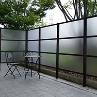 シェードフェンス1型 H21 基本 Pブロンズ【別送品】