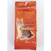 Pet'sOne キャットミール スープ仕立て まぐろ・かつお 野菜&ささみ入り 40g 3袋入り