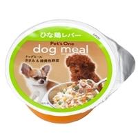 Pet's One ドッグミールカップ ささみ&緑黄色野菜 ひな鶏レバー入り 80g