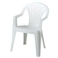 【SU】プラスチックチェア リド  ホワイト 1脚