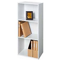 カラーボックス F8 可動棚収納ボックスA4 3段 ホワイト
