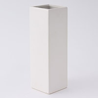 花瓶角型高さ25cm(白)VS25-WH