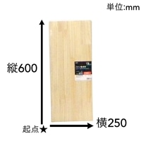【SU】パイン集成材 600×250×18mm【別送品】