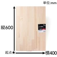 【SU】パイン集成材 600×400×18mm
