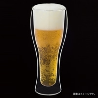 【数量限定】耐熱ガラス製二重ビアグラス 500ml 2個入
