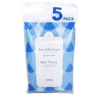 CAINZ ウエットティシュー ノンアルコール・無香料 10枚入5個パック