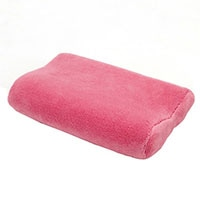 低反発枕 プチフラワー 小さいサイズ(ピンク) 23x30cm
