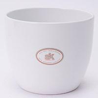 陶器鉢カバー バゼルWH Φ12cm
