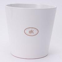 陶器鉢カバー ダラスWH Φ14cm