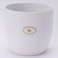 陶器鉢カバー バゼルWH Φ14cm