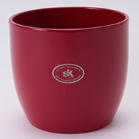 陶器鉢カバー バゼルRD Φ14cm