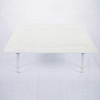 A10木目調鏡面折りたたみテーブル4530 ホワイト