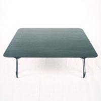 A11木目調鏡面折りたたみテーブル4530 ブラック