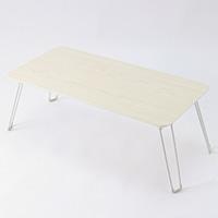 A14木目調鏡面折りたたみテーブル8040 ホワイト
