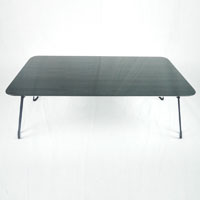 A15木目調鏡面折りたたみテーブル8040 ブラック
