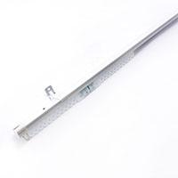 角型伸縮カーテンレール シングル ホワイト 3.0m
