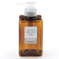 PET詰替ボトル 400ml ポンプ ブラウン