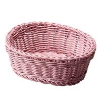 レンジで使えるバスケット オーバル ピンク