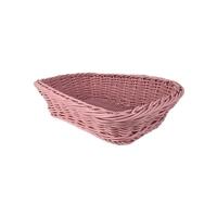 レンジで使えるバスケット 角型 ピンク