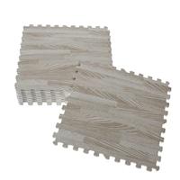 木目ジョイントマット 30cm×30cm 9枚組 ホワイト