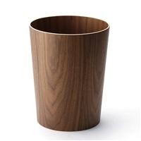 木製ゴミ箱 ブラウン