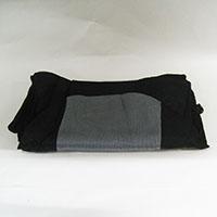 簡単取り付けシートカバー フロント用 KS-1253SP スポーティ ブラック/グレー