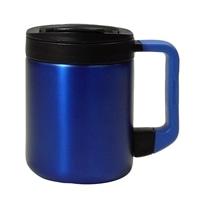 ステンレス製蓋付きマグカップ280ml ブルー