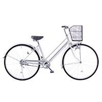 【自転車】【全国配送】シティ車 27インチ シルバー【別送品】