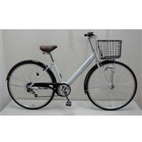 【自転車】【全国配送】シティ車 CREMONA 外装6段 27インチ ホワイト【別送品】