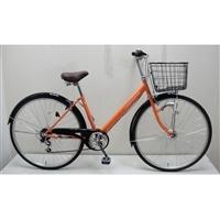 【自転車】【全国配送】シティ車 CREMONA 外装6段 27インチ オレンジ【別送品】