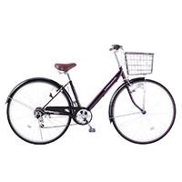 【自転車】【全国配送】シティ車 CREMONA 外装6段 27インチ パープル【別送品】