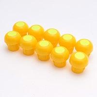 単管キャップ 10P 高輝度シール付 黄色