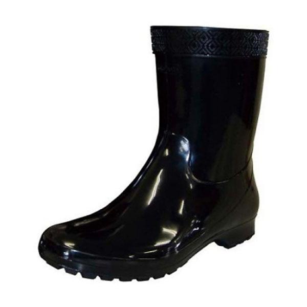 紳士 プラ長靴 ブラック 25.0cm