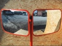 グラスミラー 角型 ダブル式 300×220(ポール別売)