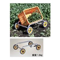 ハラックス アルミ製コンテナ台車 愛菜号(低床斜め置きタイプ)CH−20K【別送品】