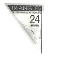 三角定規 目盛付2mm厚24cmNo.13-123