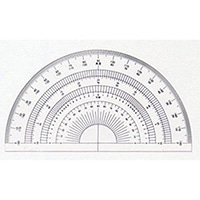 半円分度器12cm No.16-502