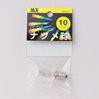 MX 10Wナツメ球  透明  M5−2002
