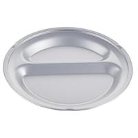 【trv】ランチ皿2穴シルバー