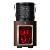 【数量限定】人感センサー付暖炉ヒーター ブラウン PR-WA010-BR