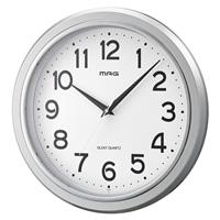 ノア精密 掛時計 モアマグ シルバーメタリック W-648SM-Z