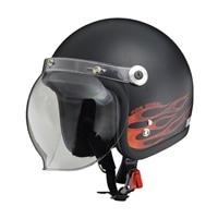 リード工業 BC-10バブルシールド付ジェットヘルメット ファイヤーエンジェル
