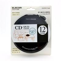 EL CD・DVDケース12枚 CCD−H12BK