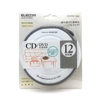 EL CD・DVDケース12枚 CCD−H12WH