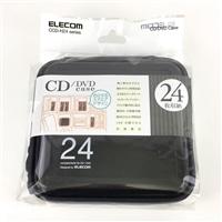 EL CD・DVDケース24枚 CCD−H24BK