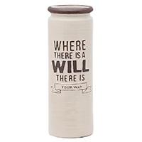 【trv・数量限定】陶製傘立て ウィル アイボリー
