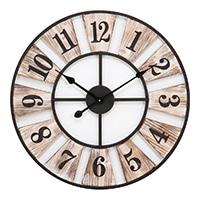 大型掛時計 ウッドデッキ 60cm【別送品】